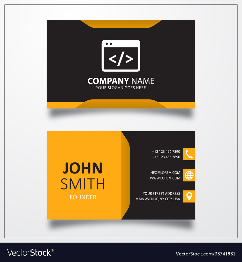 Coding icon business card template