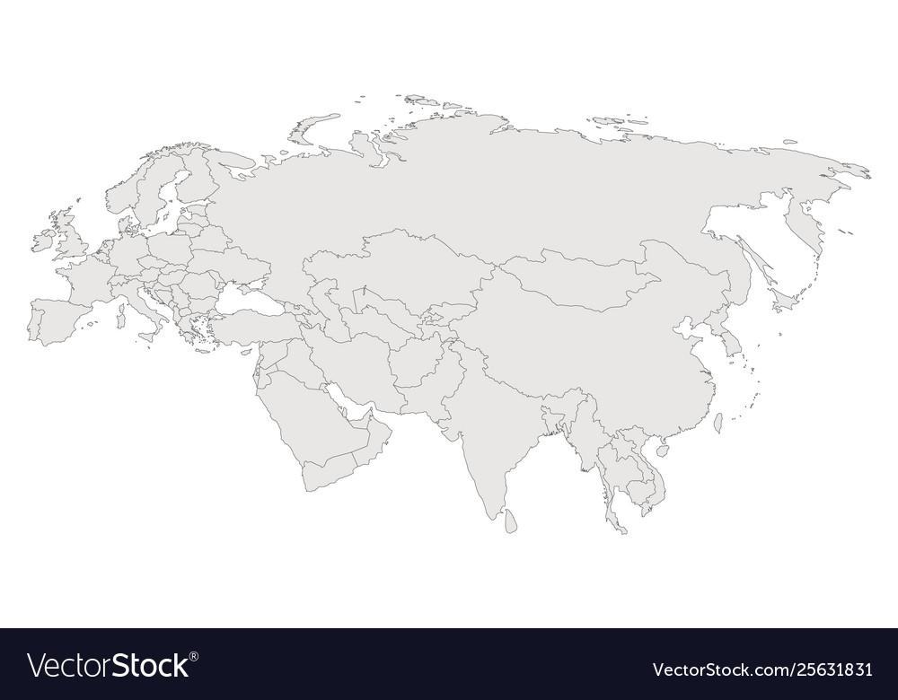 Eurasia contour map countries and islands