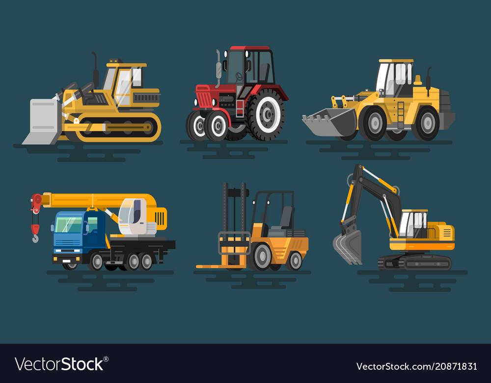 Flat construction machines