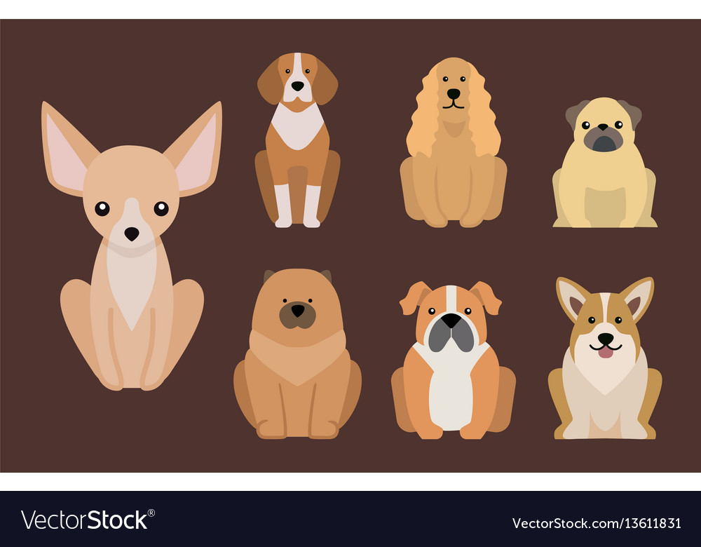 Funny cartoon dog character bread in