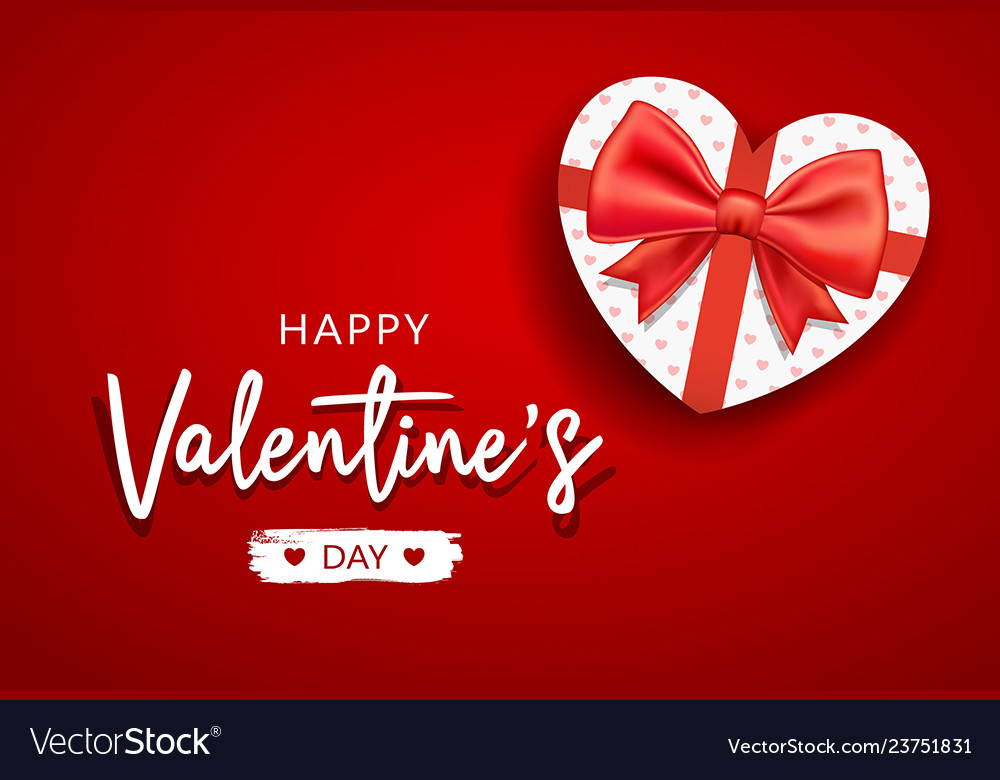 Happy Valentines Day Message With Gift Box