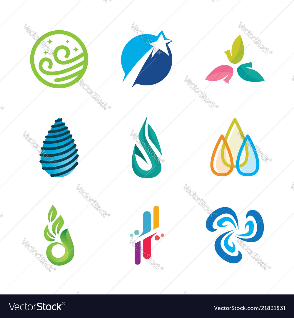 Icons or symbols of natural energy