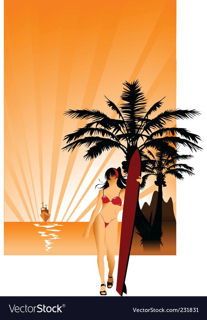 Laguna vector image