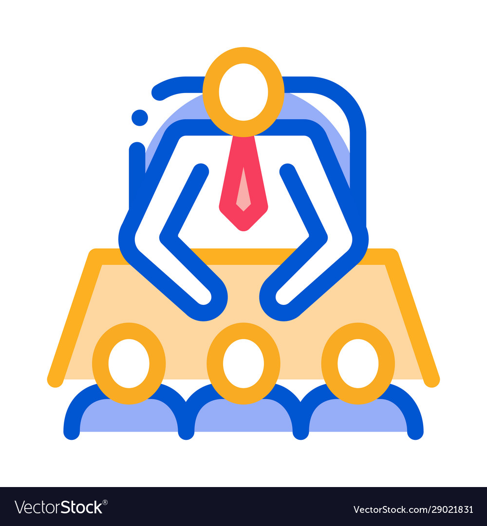 Office meeting icon outline