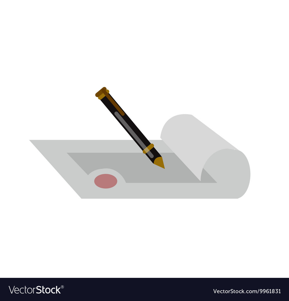 Pen with paper and seamless background