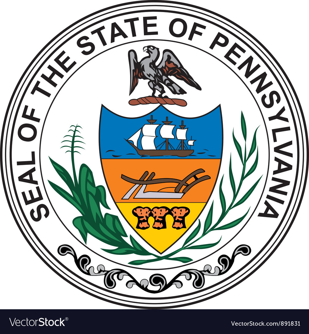 Pennsylvania seal vector image