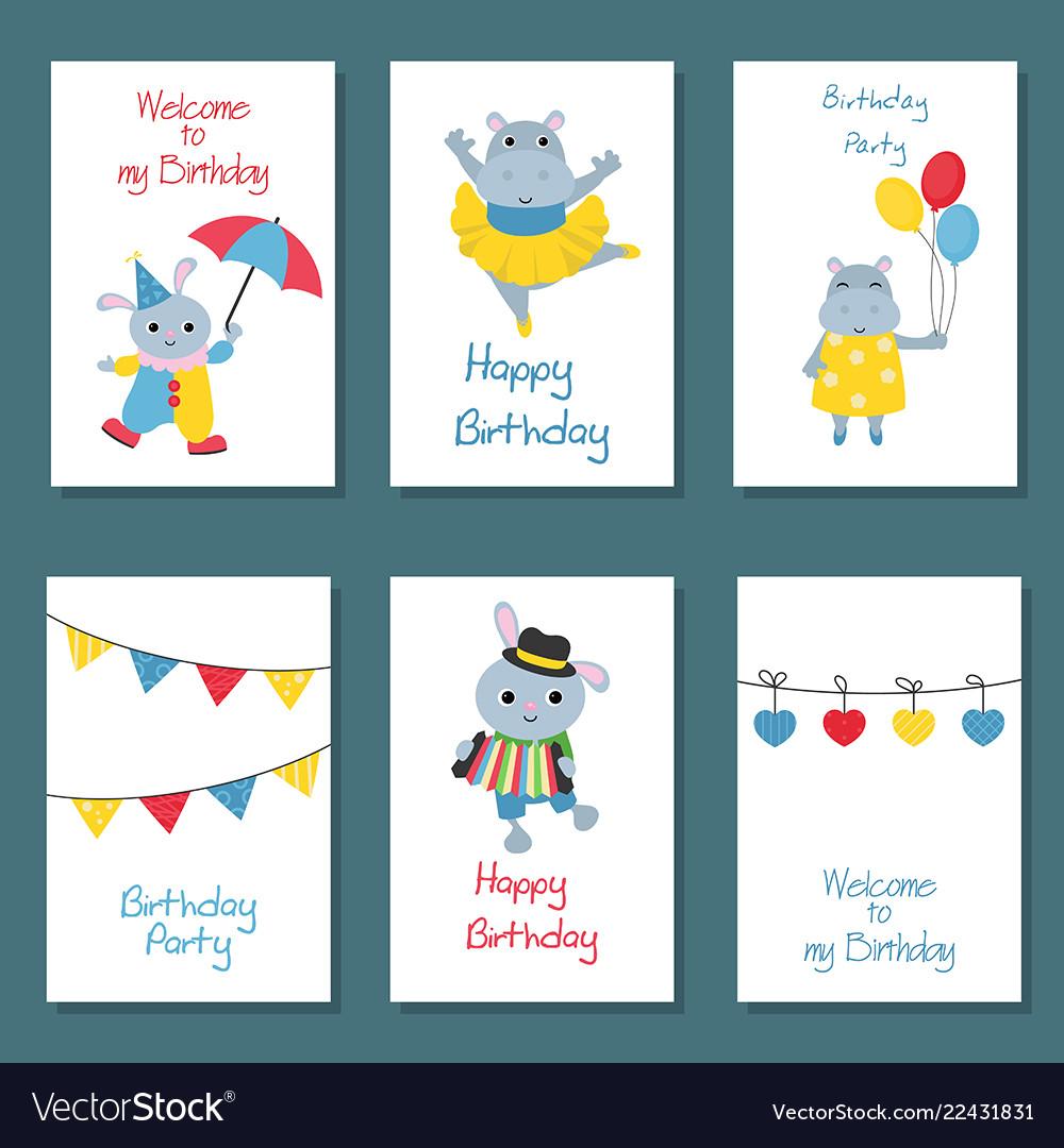 Set of birthday card set of birthday card