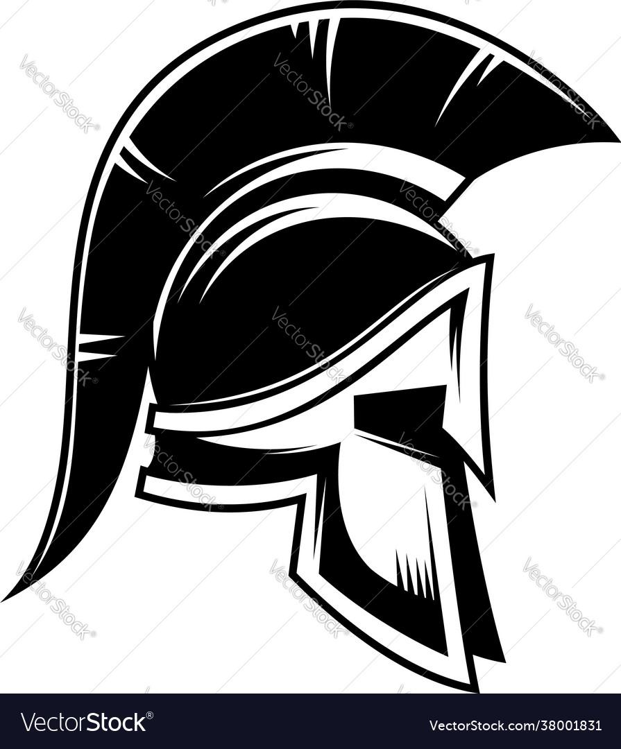 Spartan warrior helmet design element for logo