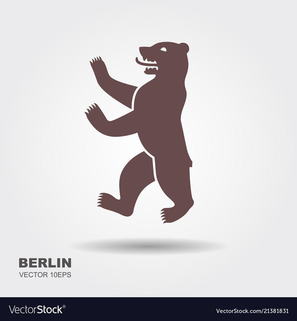 Symbol of berlin germany bear