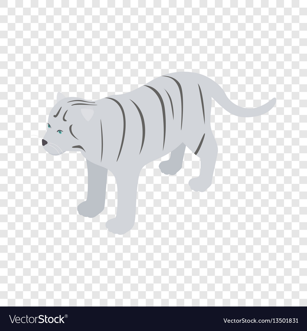 White tiger isometric icon