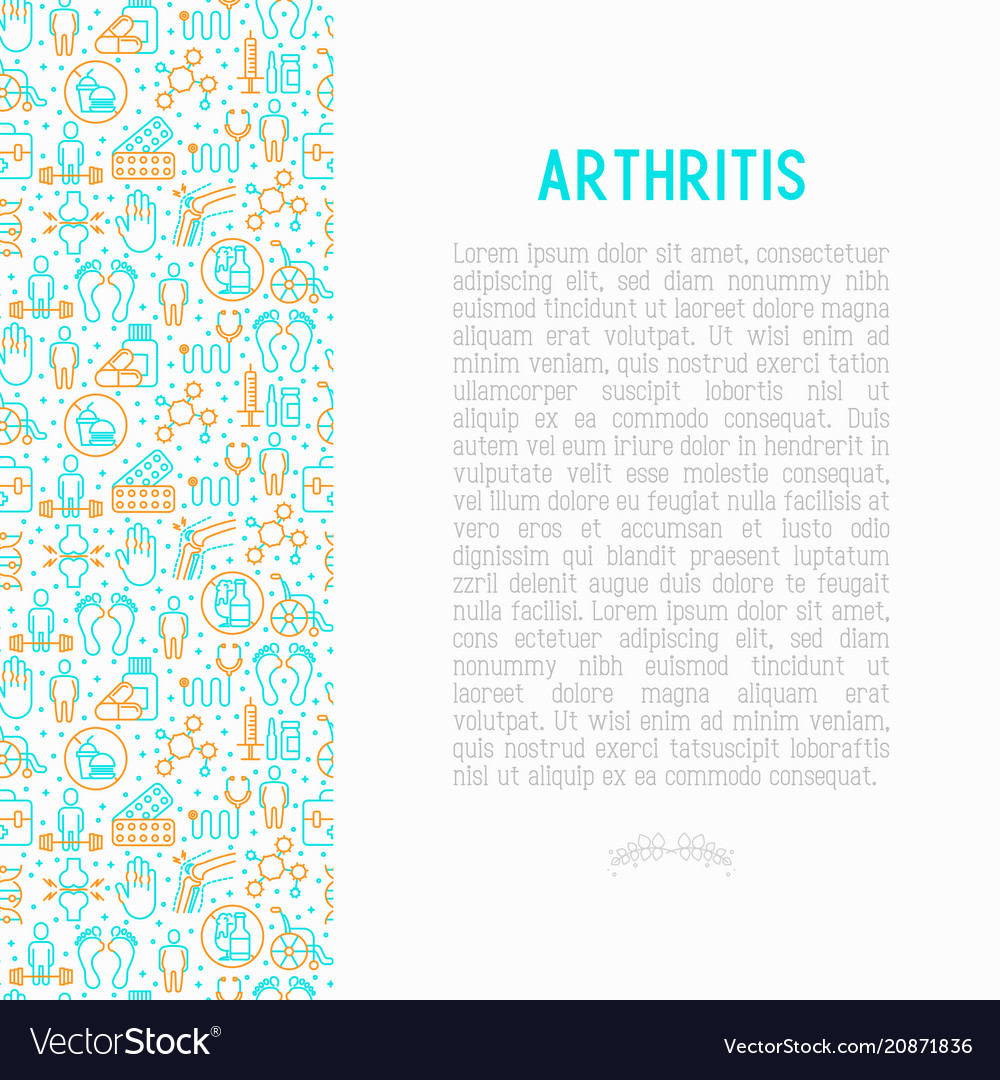 Arthritis concept with thin line icons
