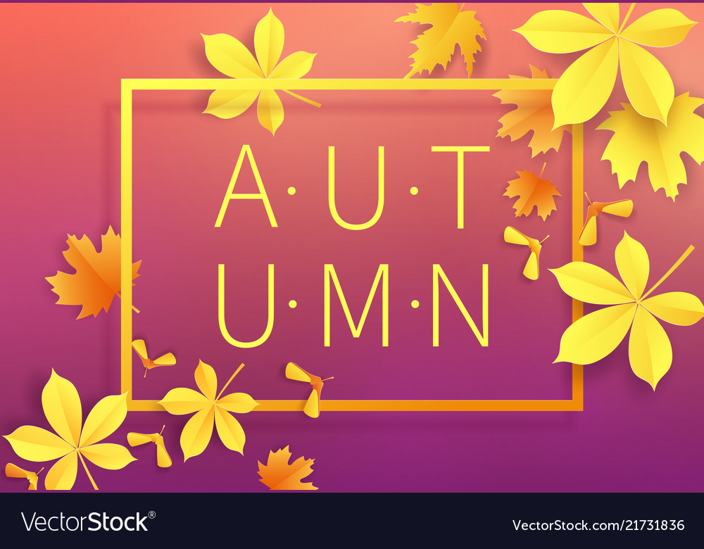 Autumn sale vintage typography poster with gold