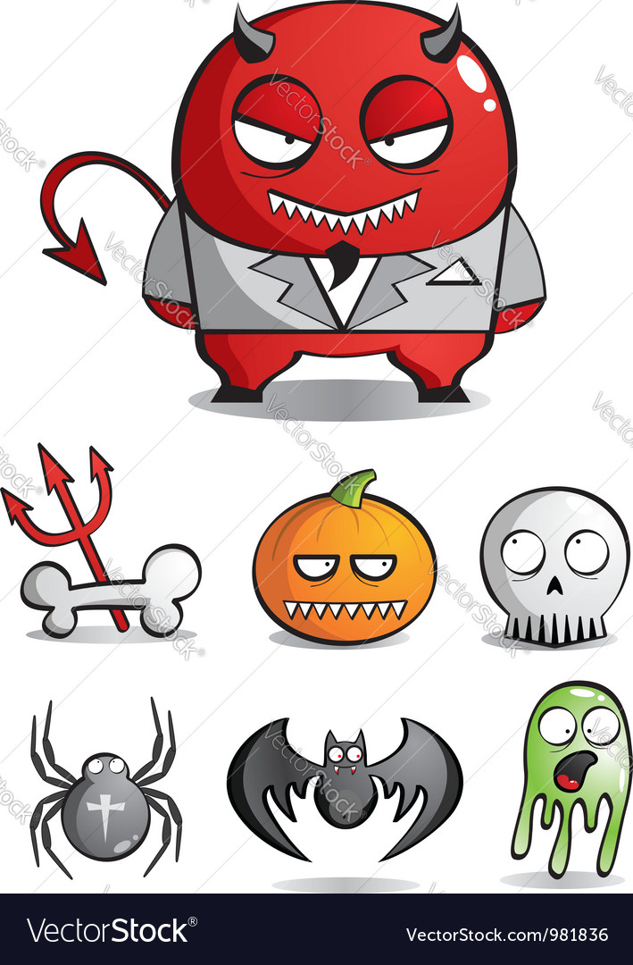 Caricatures monsters for a holiday halloween