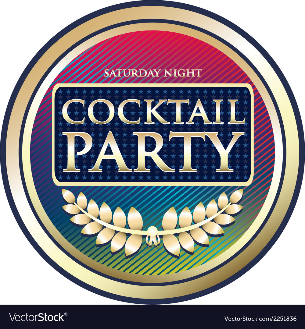 Cocktail Party Exotic Label vector image