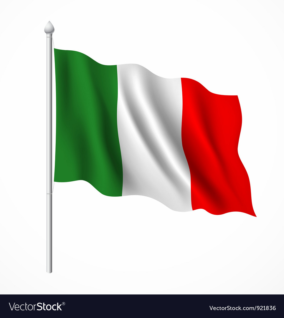Flag of italian vector image