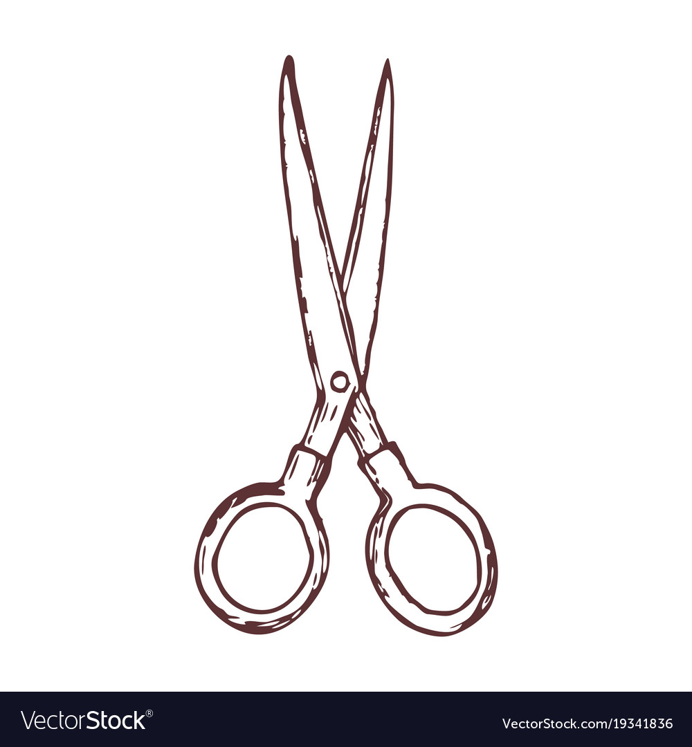 Hair Cutting Scissors Vector 8