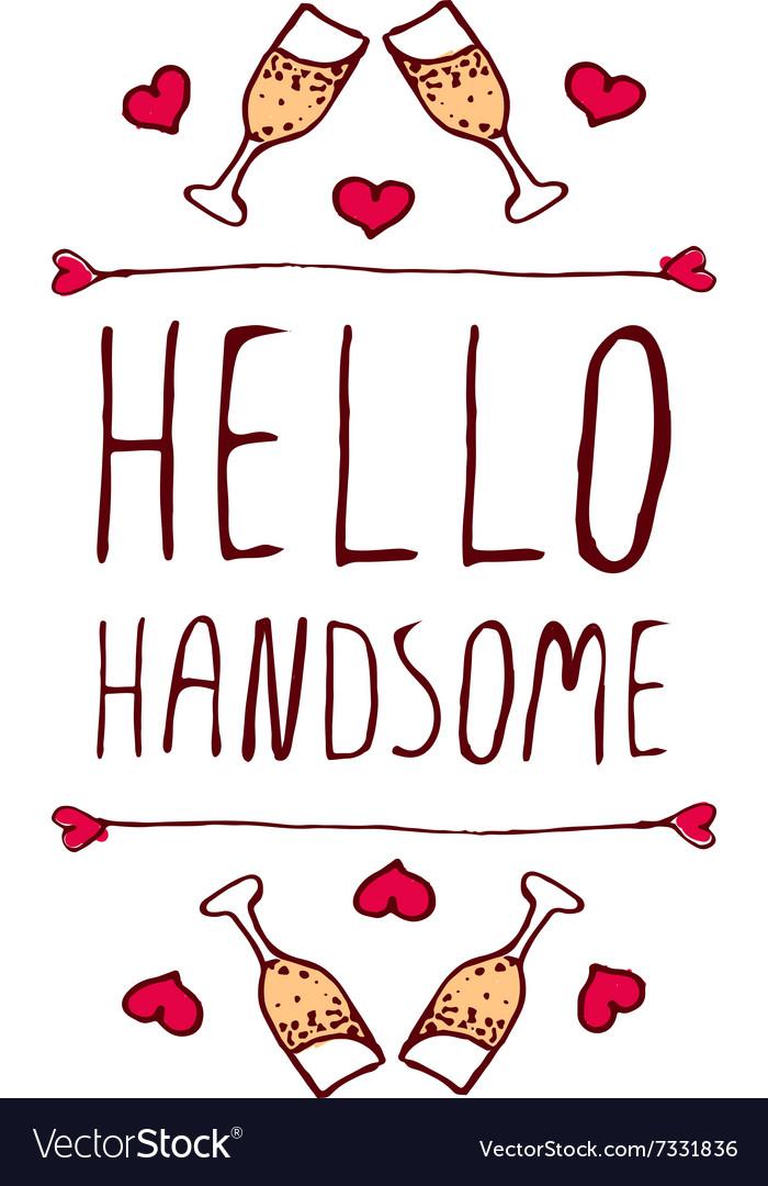 Handdrawn badge for Saint Valentines day