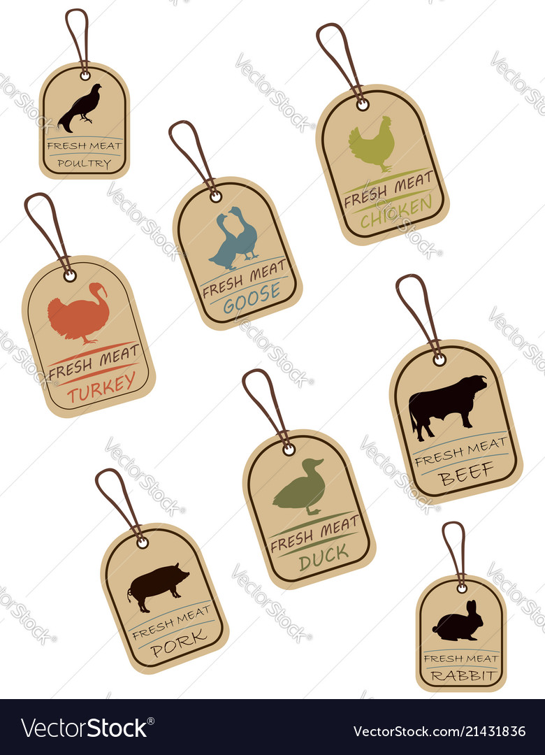 String tags meat labels