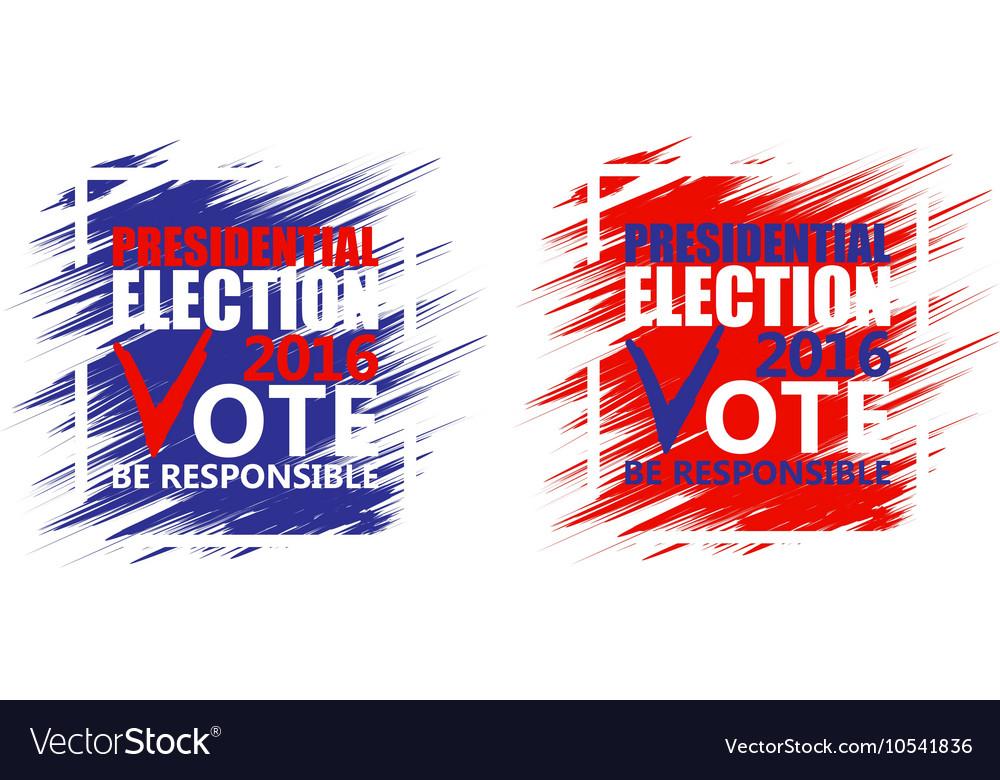 Usa Presidential Election Poster Brush Strokes Vector Image