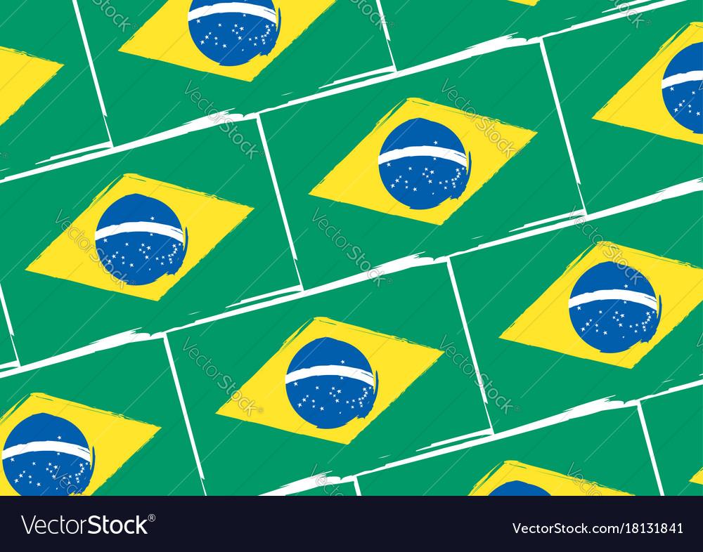 Abstract brazilian flag or banner