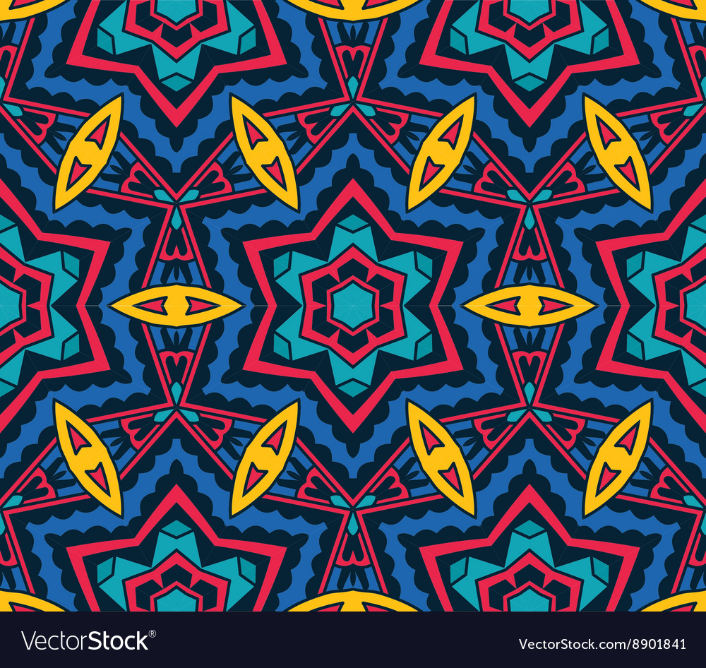 Abstract Tribal ethnic geometrical ornament
