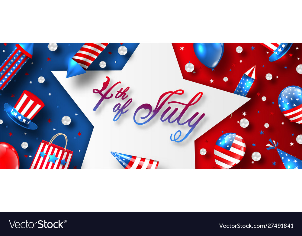 American card for usa independence day celebration