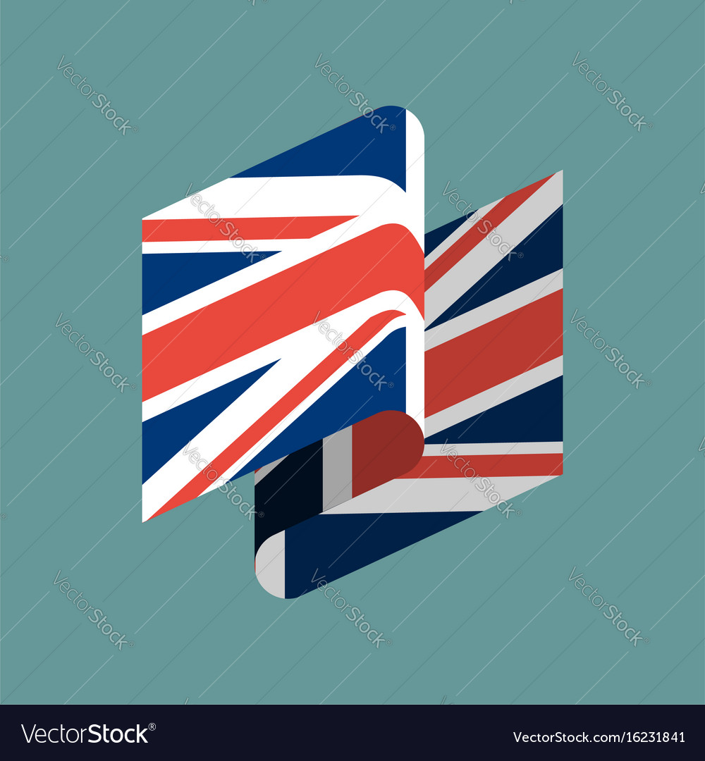 Britain flag ribbon isolated british tape banner