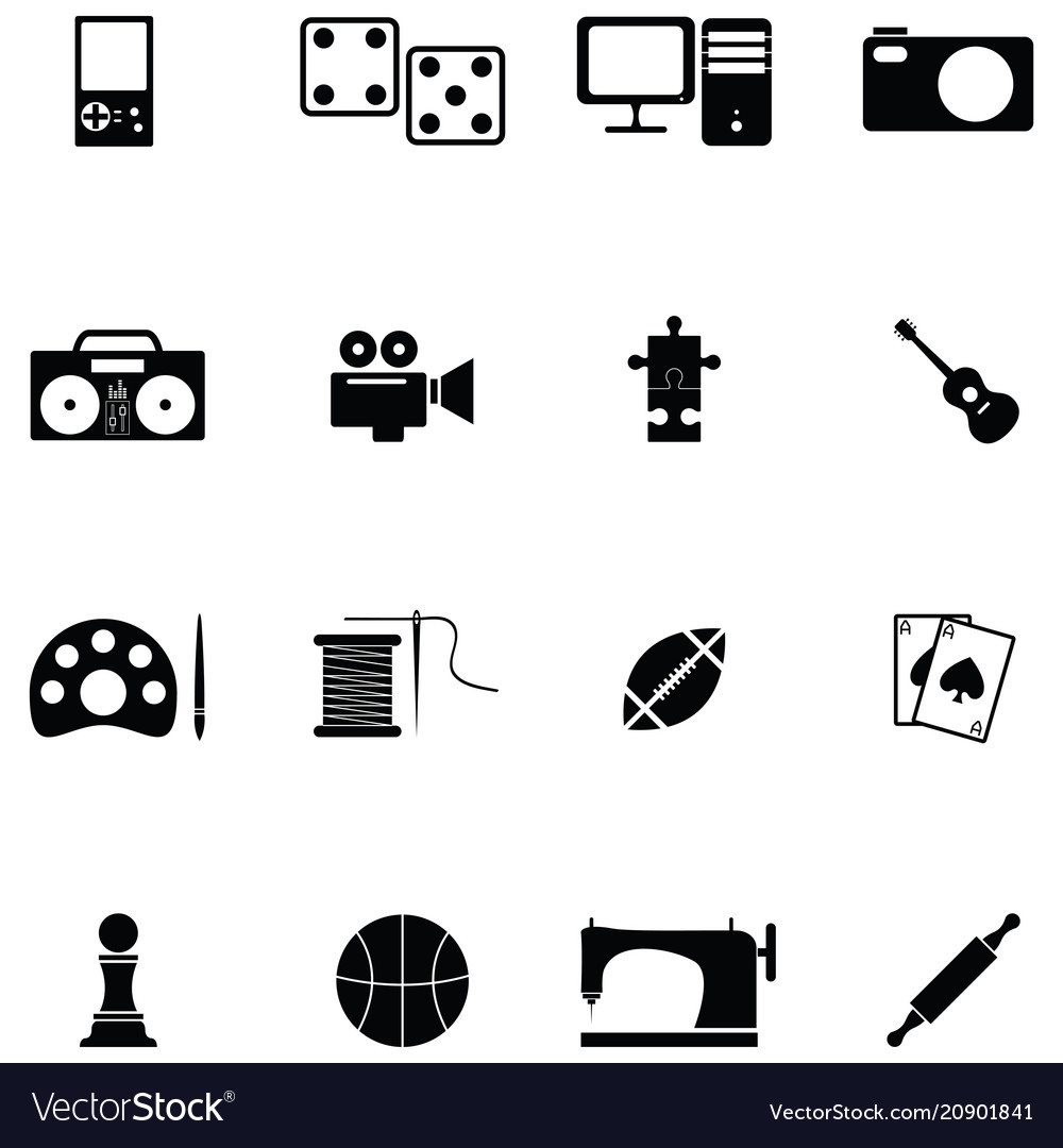 Hobby Icon Set Royalty Free Vector Image Vectorstock
