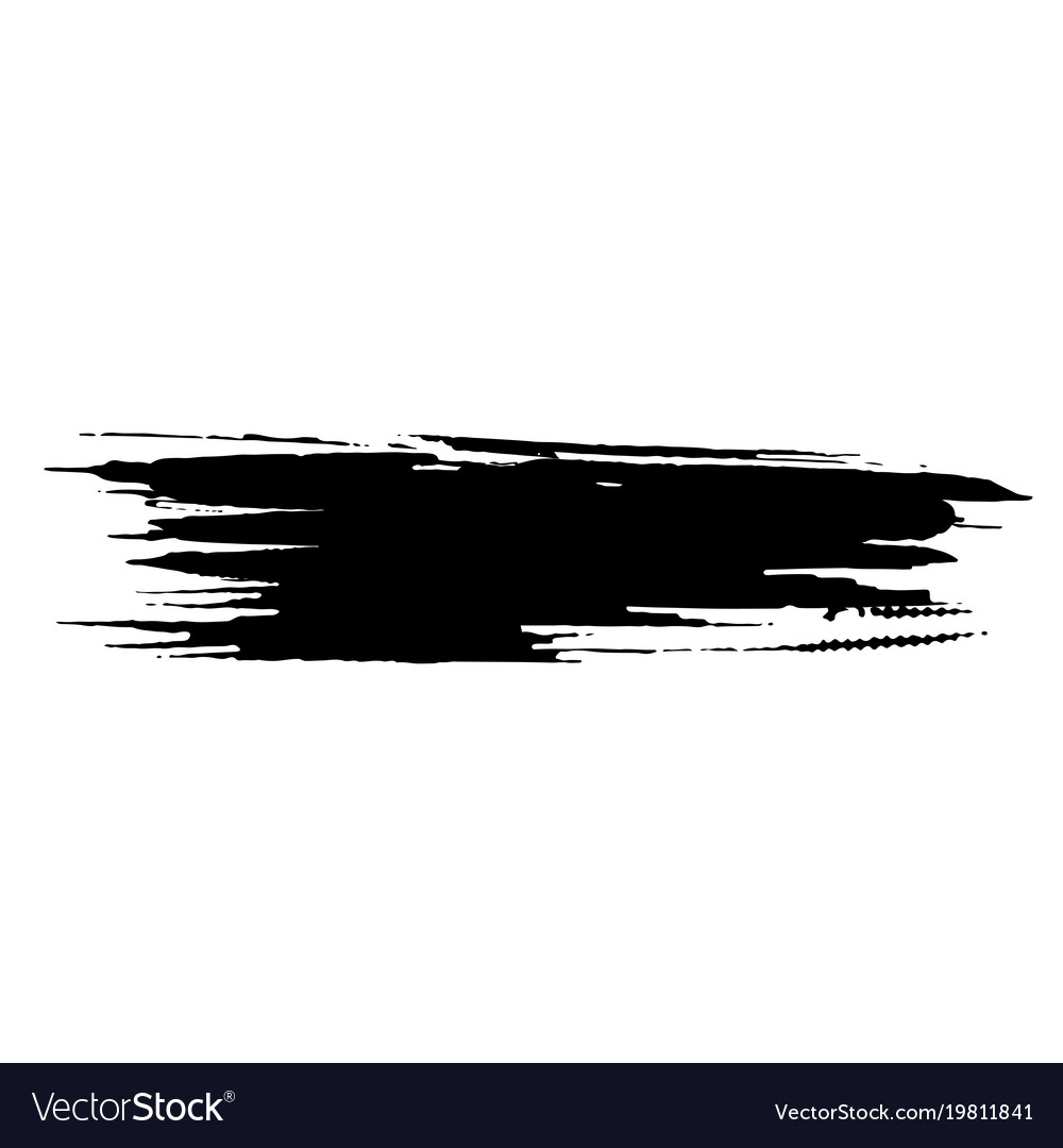 ink dry brush stroke royalty free vector image rh vectorstock com brush stroke vector free brush stroke vector illustrator