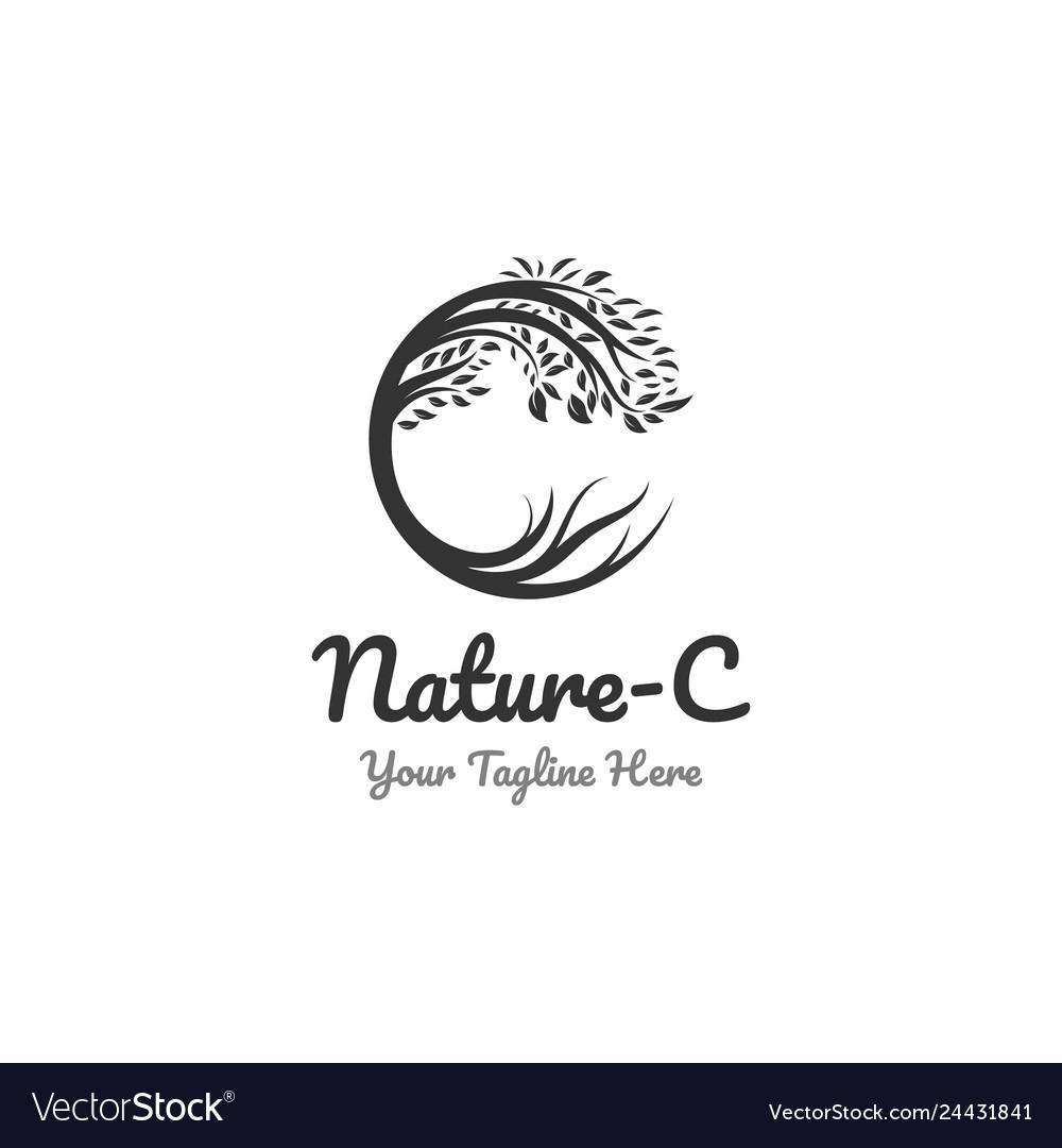 Nature logo designs and c symbol