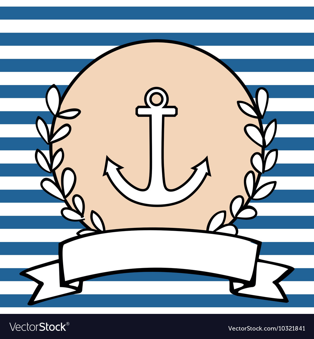 Nautical card or invitation with anchor