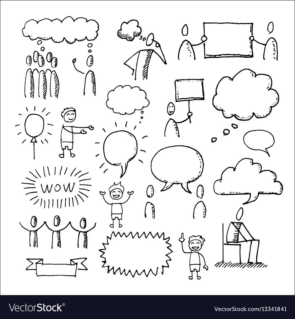 People communication elements icons set