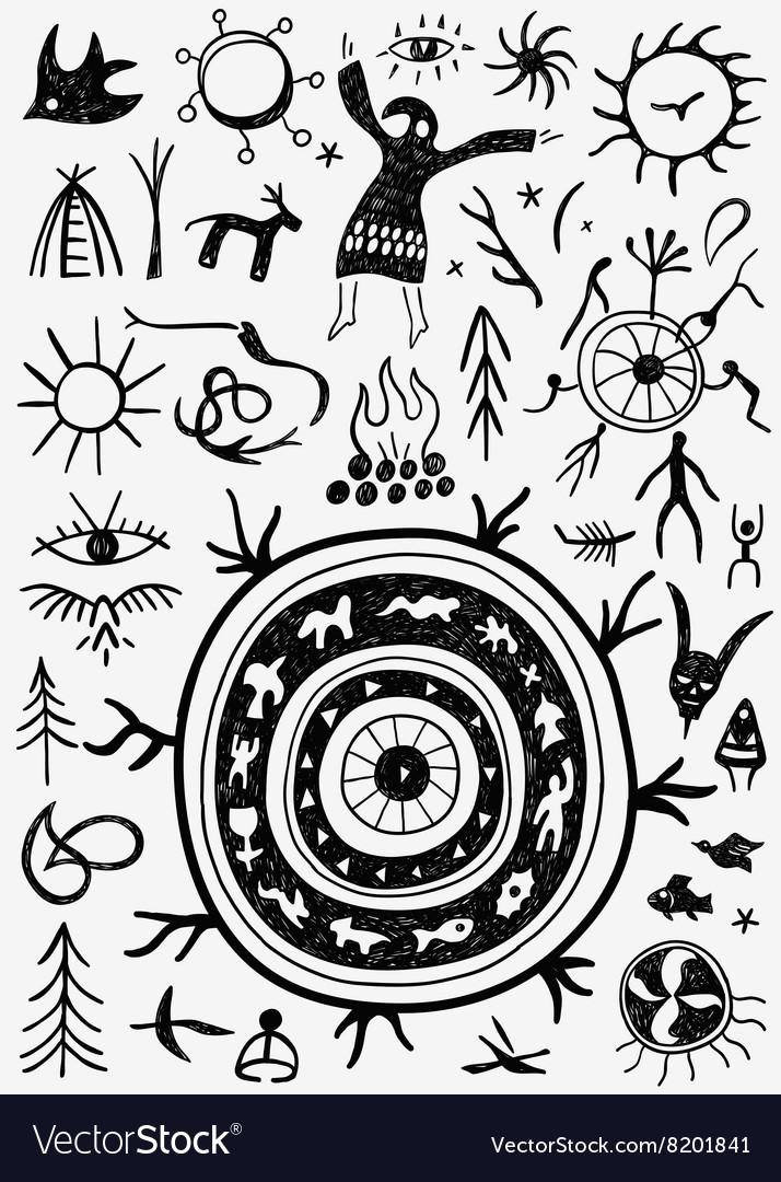 Shamans ritual doodles