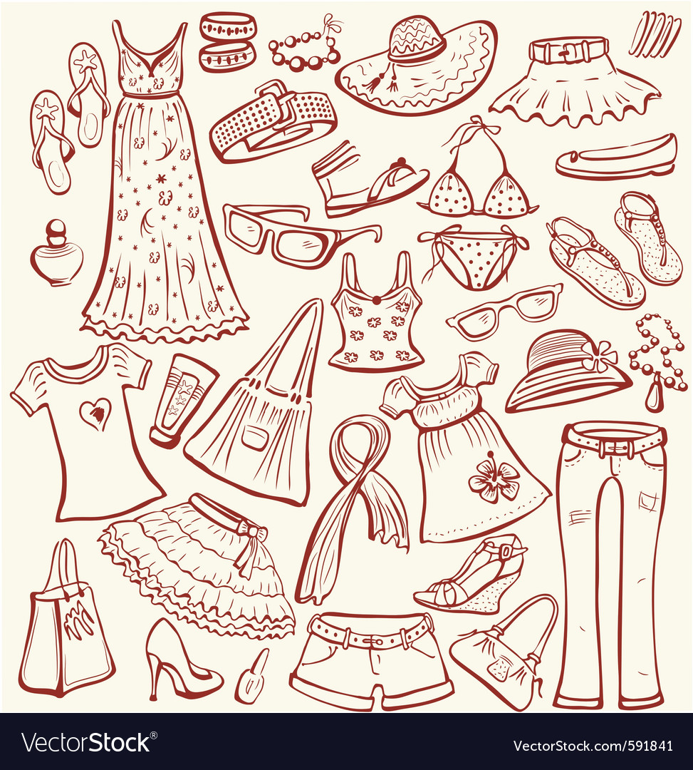 Summer clothes vector image