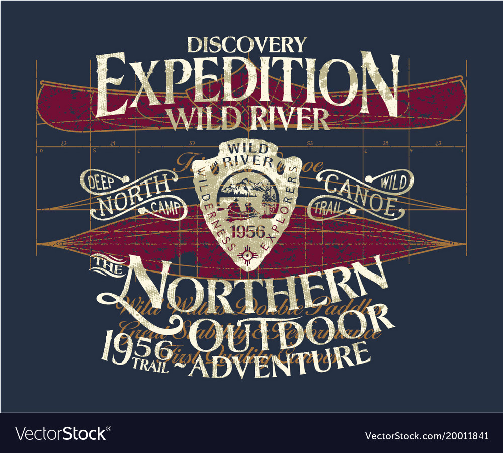 Vintage canoe wild river expedition adventure