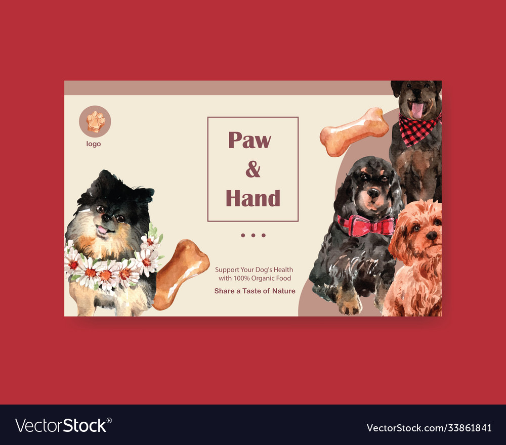 Website template with dogs and food design