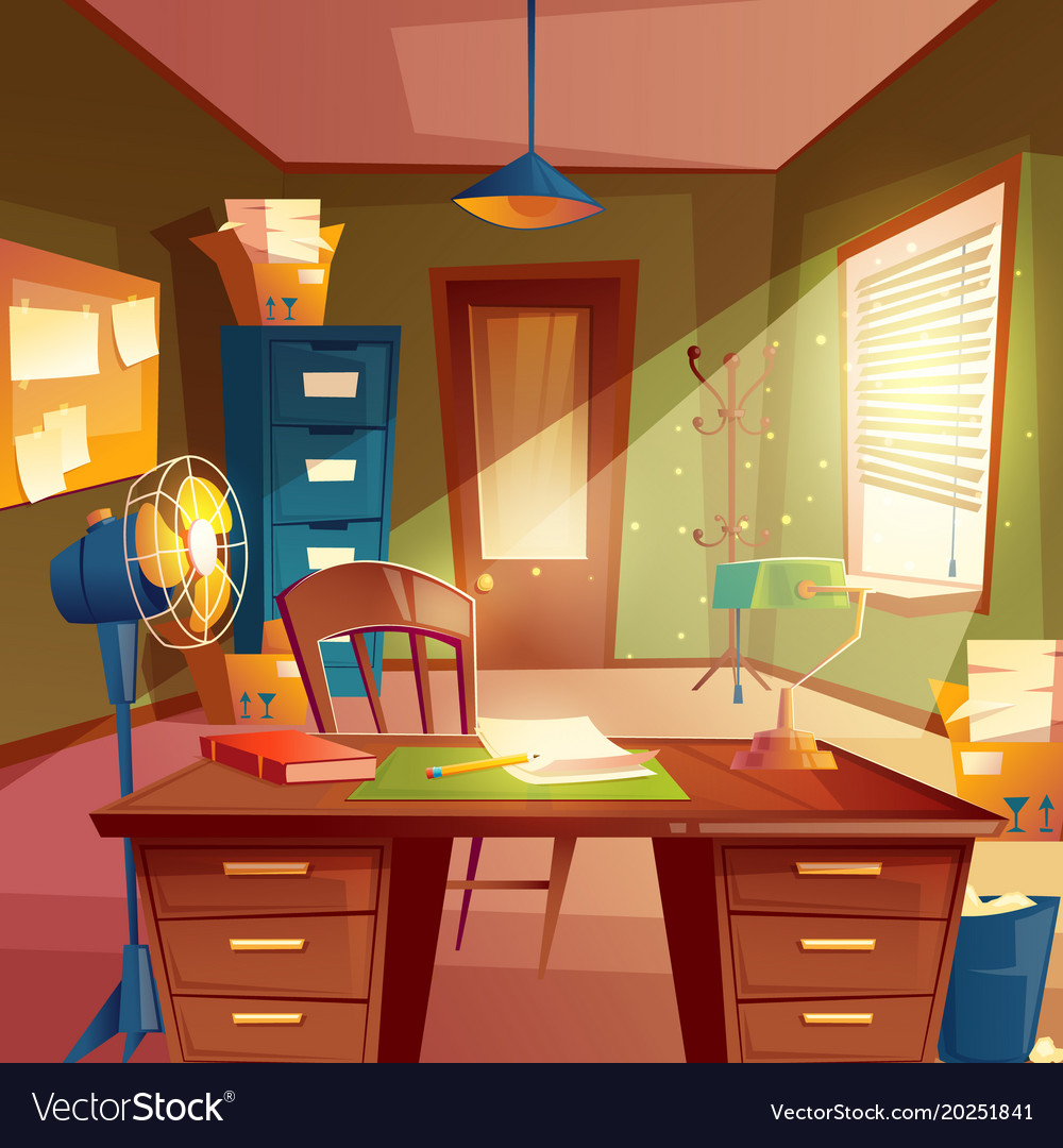 Working Space Study Room Royalty Free Vector Image