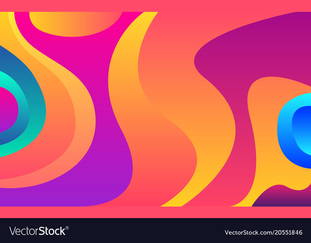 Bright Colorful Shapes Modern Wallpaper Abstract Vector Image
