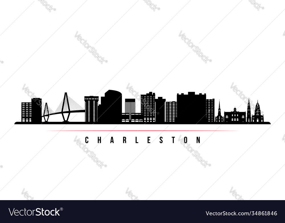 Charleston skyline horizontal banner