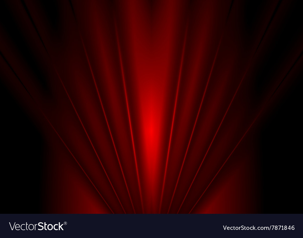 Dark red glow beams abstract background vector image