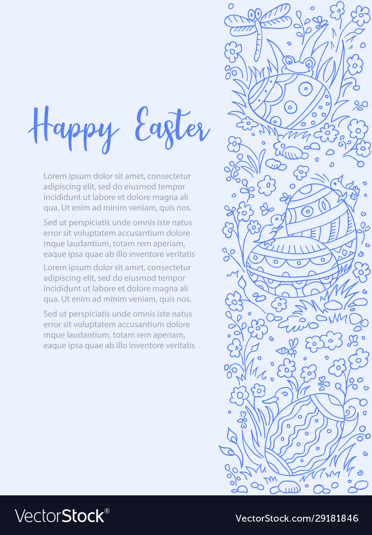 Easter doodle background