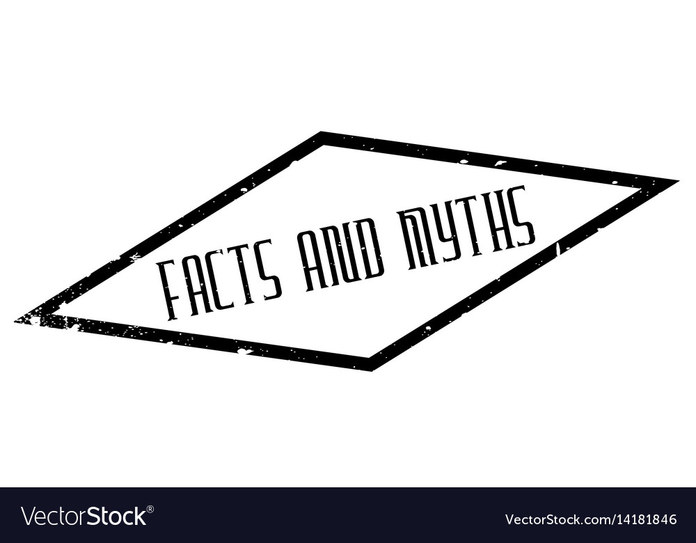 Facts and myths rubber stamp