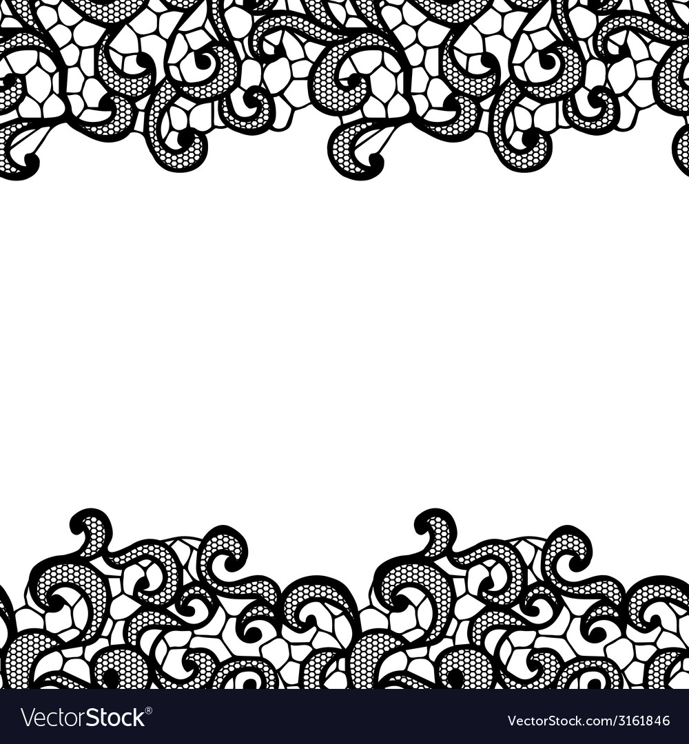 lacy backgound black lace royalty free vector image rh vectorstock com lace vector free download lace vector clip art free