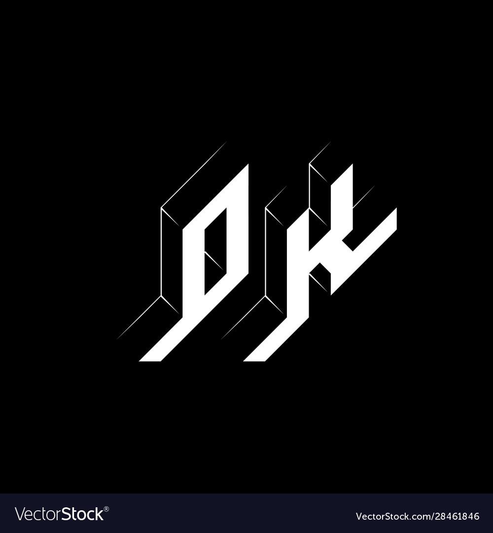 Ok - monogram or logotype isometric 3d font