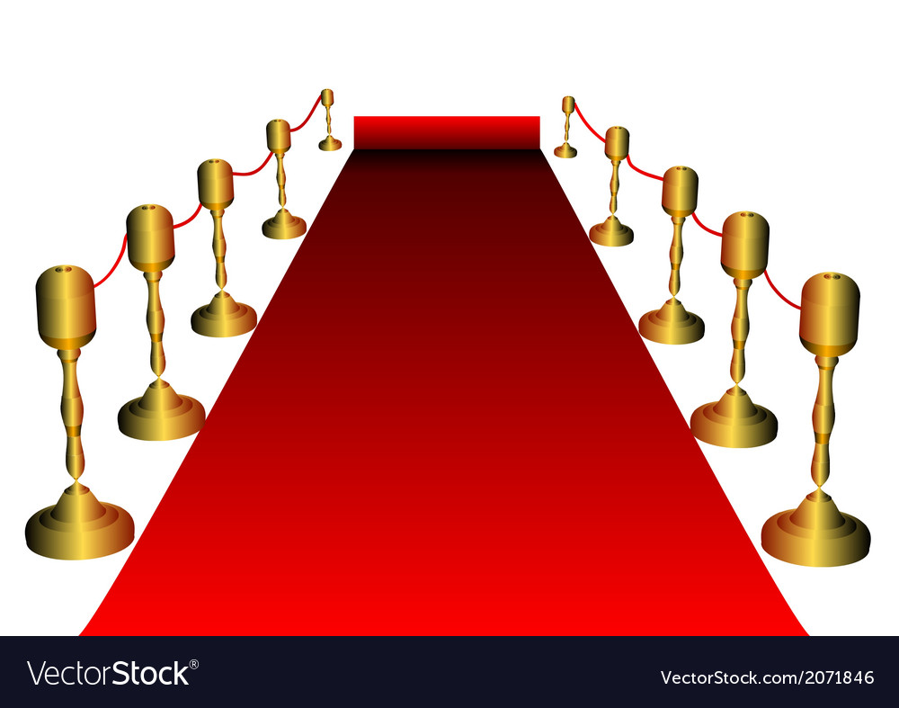 red carpet royalty free vector image vectorstock rh vectorstock com vip red carpet vector hollywood red carpet vector
