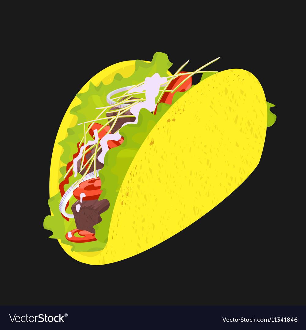 Symbol Taco Fast Food