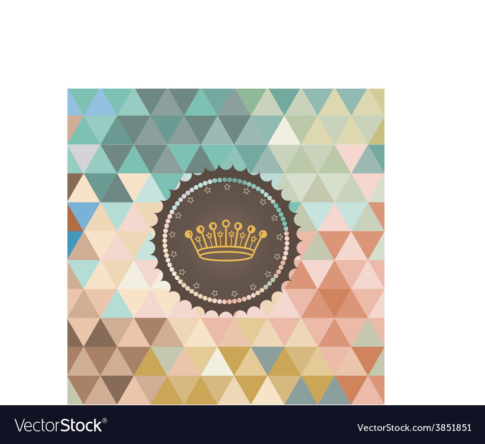 Background made of triangles Retro label