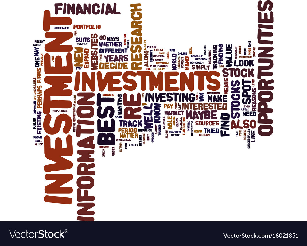 Best investment opportunities how to spot one vector image