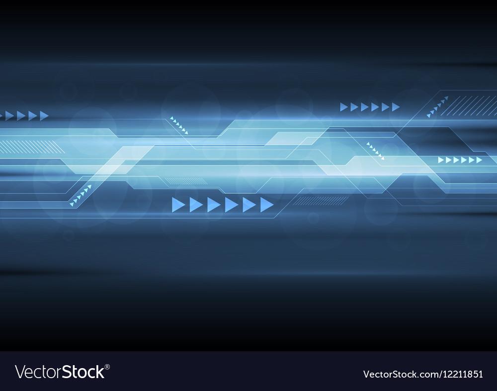 Dark blue abstract technology design