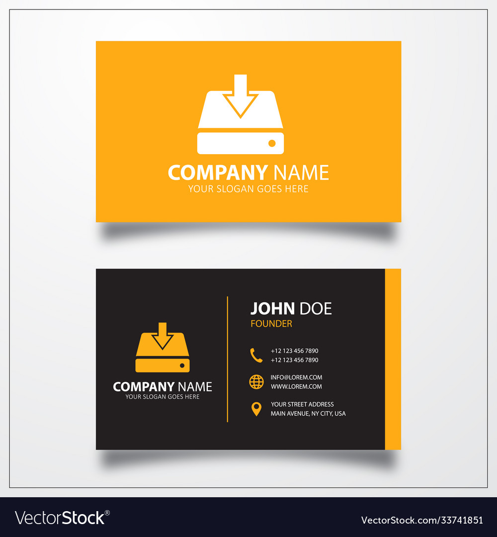 Data download icon business card template